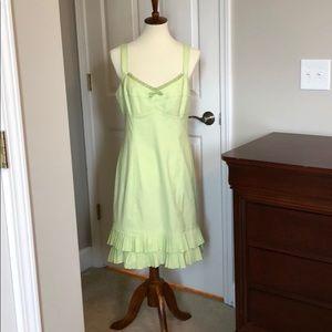 Nanette Lepore green/white checked dress